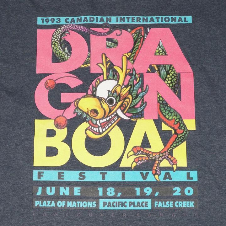 1993 Canadian International Dragon Boat Festival - Navy Heather Ringspun T-Shirt